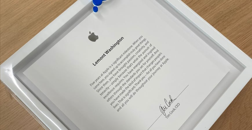 chto apple darit sotrudniku za 5 let raboty v kompanii