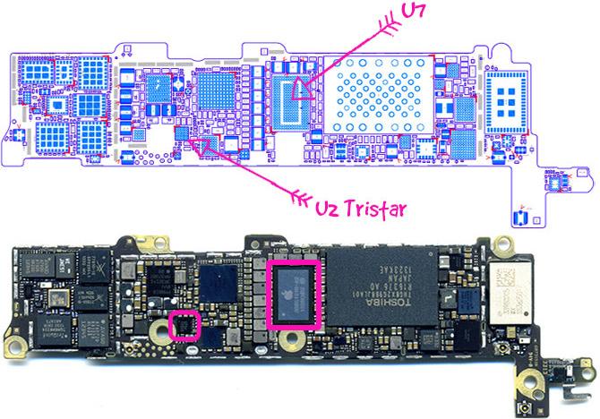 zamena kontrollera pitaniya u7 i zaryadki u2 iphone dostupno dlya chajnika