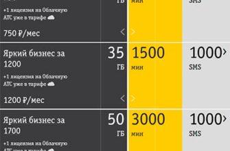 bilajn dlya yuridicheskix lic telefon tarify