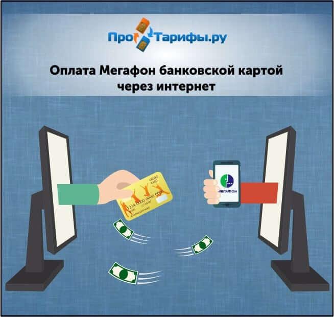 oplata megafon bankovskoj kartoj cherez internet
